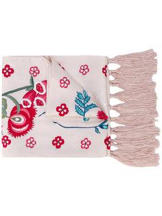 шарф с вышитыми цветами Temperley London