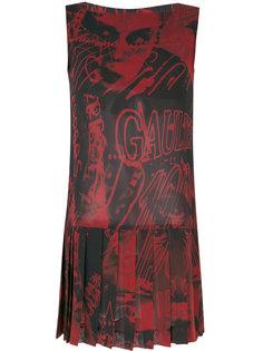 плиссированное платье с принтом  Jean Paul Gaultier Vintage