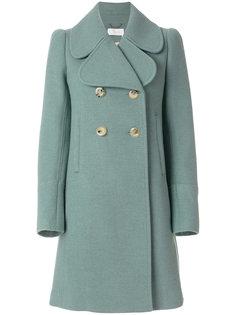 двубортное пальто с крупным воротником Chloé