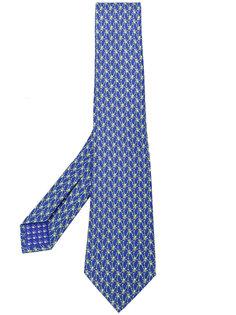 галстук с принтом лягушек  Bulgari