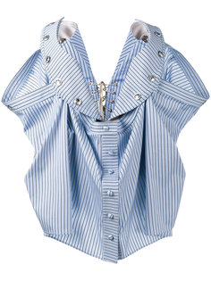 блузка-бюстье в полоску без бретелек Y / Project