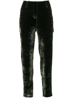 velvet style straight trousers Luisa Cerano