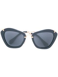 солнцезащитные очки с D-образной оправой Miu Miu Eyewear