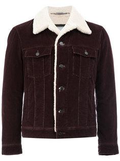 джинсовая куртка с подкладкой из овчины Lanvin