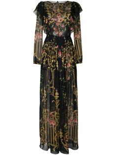макси платье с цветочным узором Alberta Ferretti