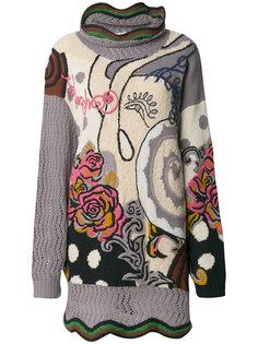 джемпер с цветочной вышивкой  Kansai Yamamoto Vintage