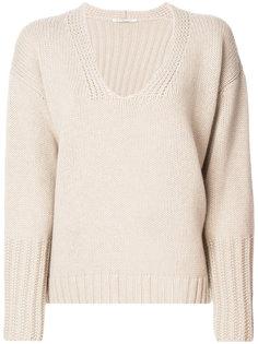 fur trim sweater Agnona