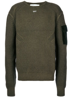 ребристый свитер Off Off-White