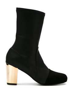 metallic heel boots Giuliana Romanno