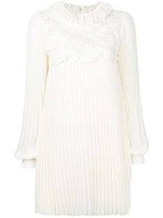 плиссированное платье с цветочным принтом  Philosophy Di Lorenzo Serafini