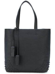 сумка-шоппер с тисненой отделкой  Tods Tod`S