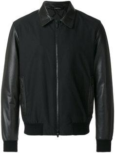 куртка с кожаными рукавами Z Zegna