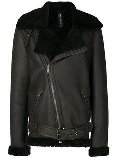 пальто с меховой оторочкой Giorgio Brato