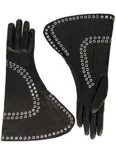декорированные перчатки с отворотом Alexander McQueen