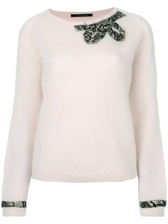 bow and cuff embellished sweater Luisa Cerano