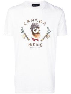футболка с принтом Lumberjack Dsquared2