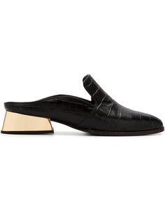 leather textured mules Giuliana Romanno