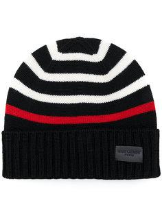 трикотажная полосатая шапка Saint Laurent