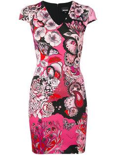 платье с цветочным рисунком Just Cavalli