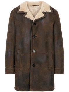 пальто с меховой подкладкой Neil Barrett