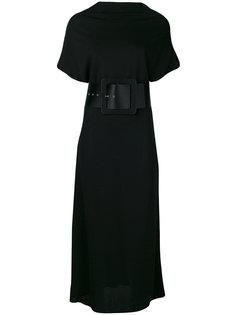 платье миди с широким поясом Maison Margiela