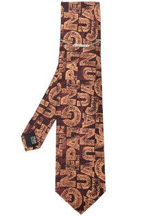 жаккардовый галстук с логотипом  Jean Paul Gaultier Vintage