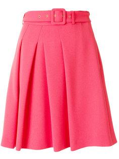 плиссированная юбка с пряжкой на поясе  Boutique Moschino