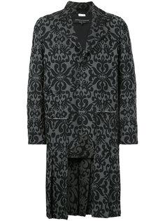 жаккардовое пальто Comme Des Garçons Vintage