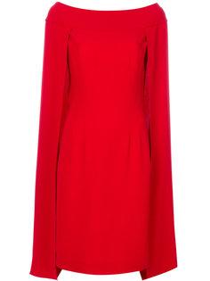 расклешенное платье кейп Alberta Ferretti