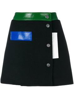 мини юбка с заклепками Courrèges