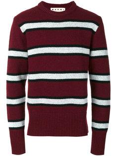свитер с круглым вырезом в полоску Marni