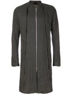 пальто со складками и воротником-стойкой  Fagassent