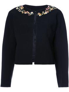 укороченный пиджак с цветочным украшением Altuzarra