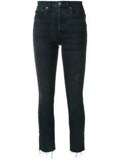 укороченные джинсы с необработанными манжетами Re/Done