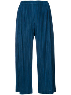 cropped pleated trousers Pleats Please By Issey Miyake