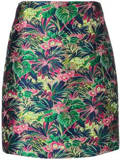 мини-юбка с цветочной вышивкой MSGM