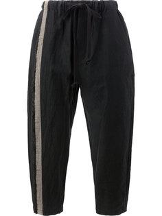 контрастные спортивные брюки на шнурке Uma Wang