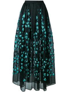 юбка с аппликацией в виде сердечек  Elie Saab