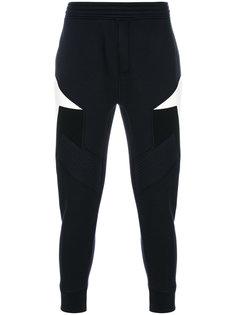 спортивные брюки дизайна колор-блок Neil Barrett