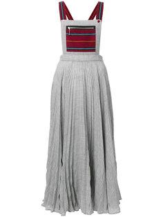 плиссированная юбка на подтяжках Marco De Vincenzo