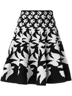 flared dove skirt Alexander McQueen