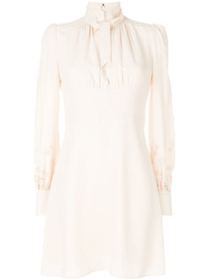 приталенное платье с завязкой на шее  Chloé