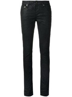 вощеные джинсы Saint Laurent