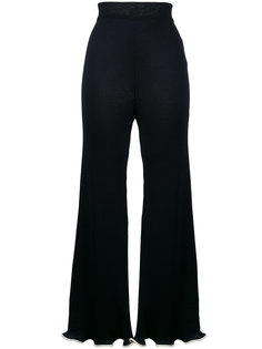 расклешенные брюки в рубчик с оборками Stella McCartney
