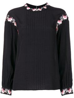 блузка с цветочной вышивкой  Steffen Schraut