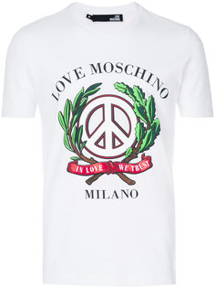футболка с принтом Peace Love Moschino