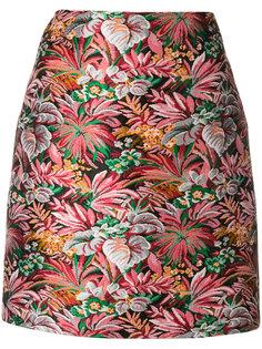 жаккардовая короткая юбка MSGM
