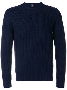 свитер с зигзагообразной вязкой Eleventy
