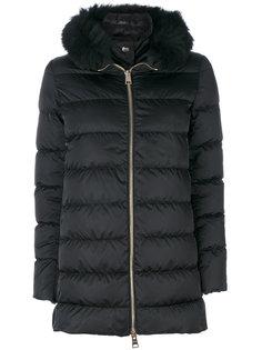 пуховое пальто с меховой отделкой Herno
