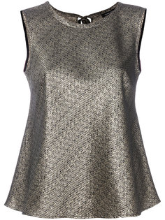 metallic flared blouse Luisa Cerano